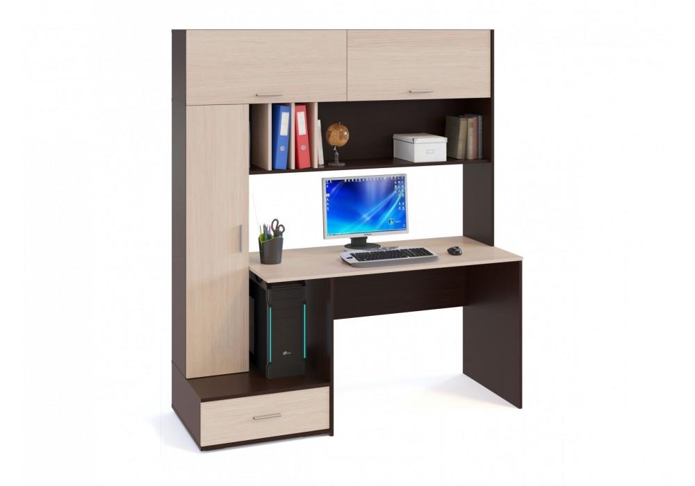 Стол компьютерный Сокол КСТ-17 венге/беленый дуб
