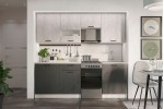 Кухонный гарнитур SV-МЕБЕЛЬ Лилия 1,7 (Белый/Камень темный/Цемент светлый)