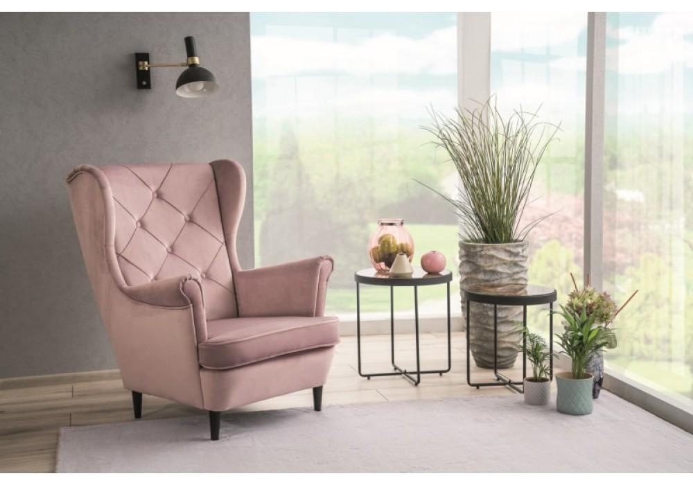 Кресло SIGNAL LADY VELVET Bluvel52, античный розовый