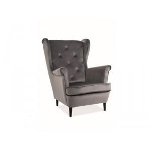 Кресло SIGNAL LADY VELVET Bluvel14, серый