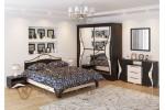 Кровать SV-МЕБЕЛЬ (Спальня Лагуна 5 К) Дуб Венге/Дуб млечный 160/200