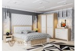 Кровать SV-МЕБЕЛЬ (Спальня Лагуна 6 К) Дуб Сонома/Жемчуг 160/200