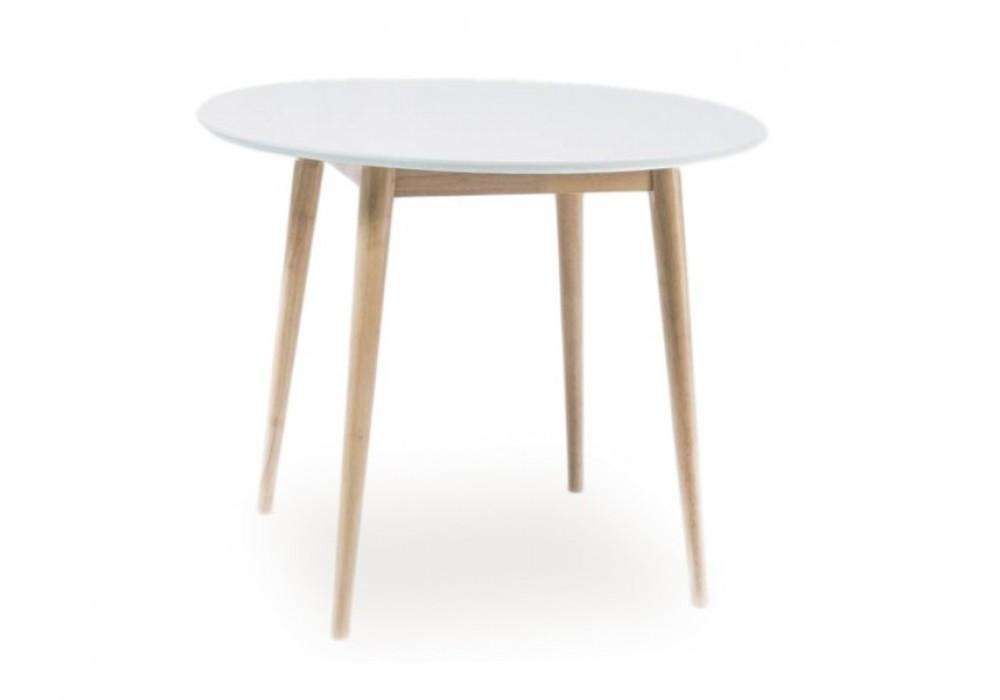 Стол обеденный SIGNAL LARSON, белый\беленый дуб