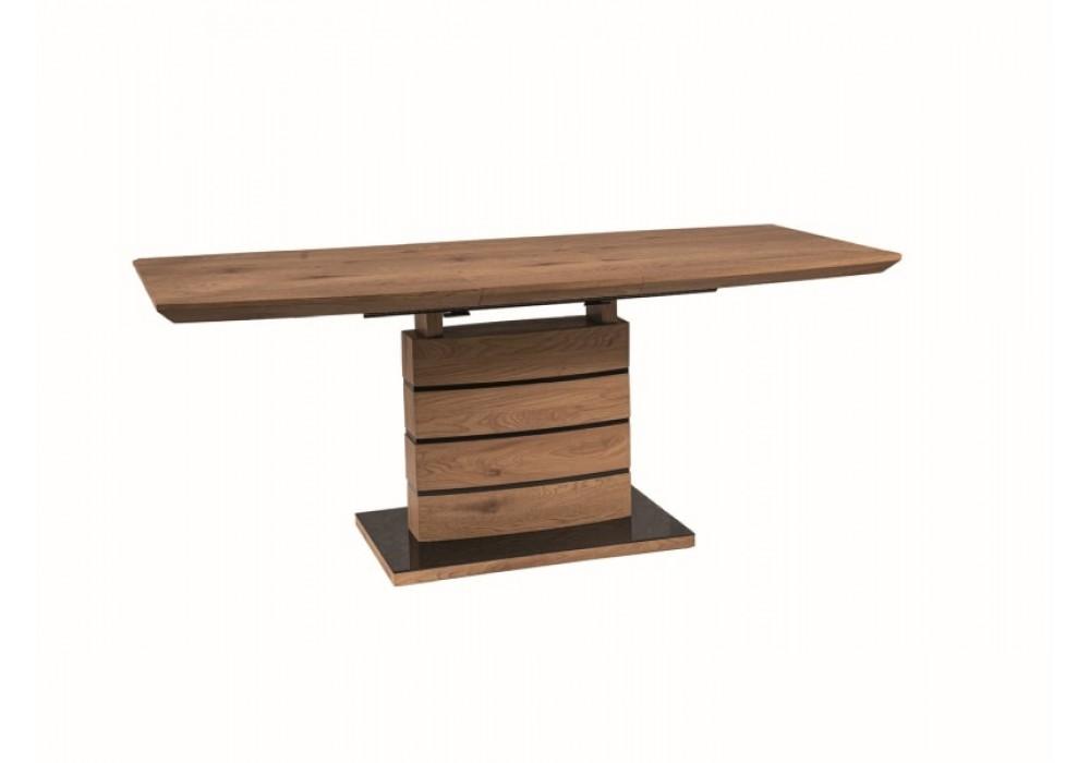 Стол обеденный SIGNAL LEONARDO 160-220  раскладной, дуб
