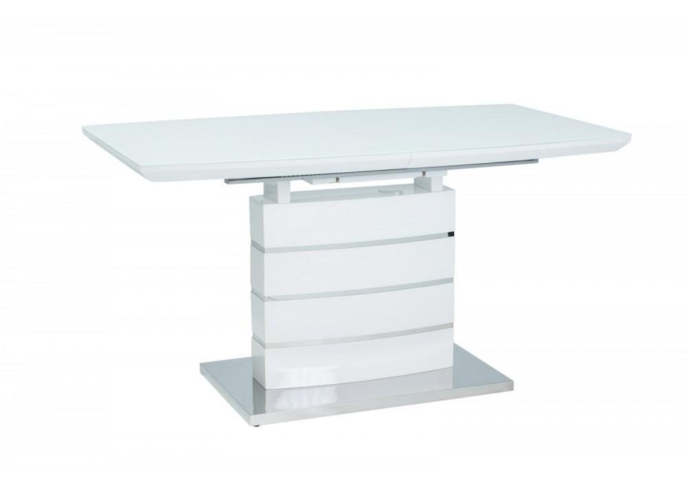 Стол обеденный SIGNAL LEONARDO 160-220  раскладной, белый