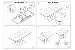 Стол обеденный SIGNAL LEONARDO 140 раскладной, белый лак, 140-180/80/76