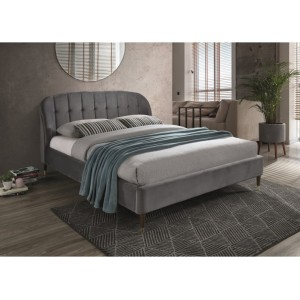 Кровать SIGNAL LIGURIA VELVET серый, 160/200