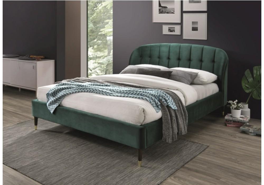 Кровать SIGNAL LIGURIA VELVET зеленый, 160/200