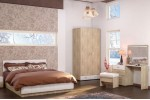 Спальня МСЛинда  Дуб сонома/Белый (Вариант-2)