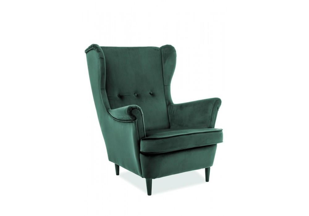Кресло SIGNAL LORD VELVET Bluvel78, зеленый