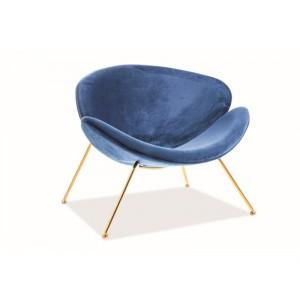 Кресло SIGNAL MAJOR VELVET Bluvel86, темно-синий/золотой