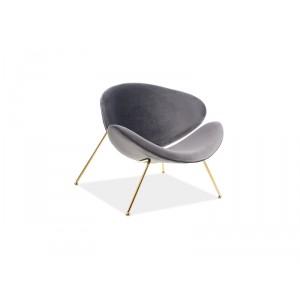 Кресло SIGNAL MAJOR VELVET GOLD серый