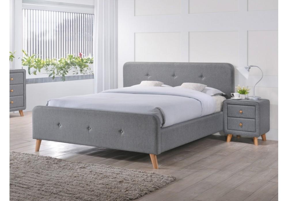 Кровать SIGNAL MALMO серая 140/200