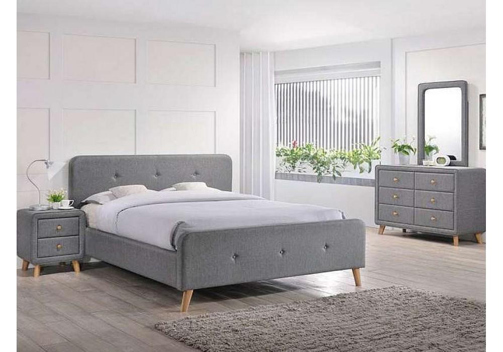Кровать SIGNAL MALMO серый, 180/200