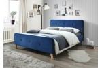 Кровать SIGNAL MALMO VELVET синий/дуб, 160/200