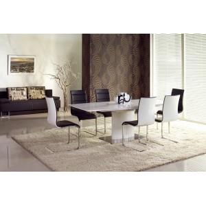 Стол обеденный HALMAR MARCELLO раскладной, белый, 180-220/90/76