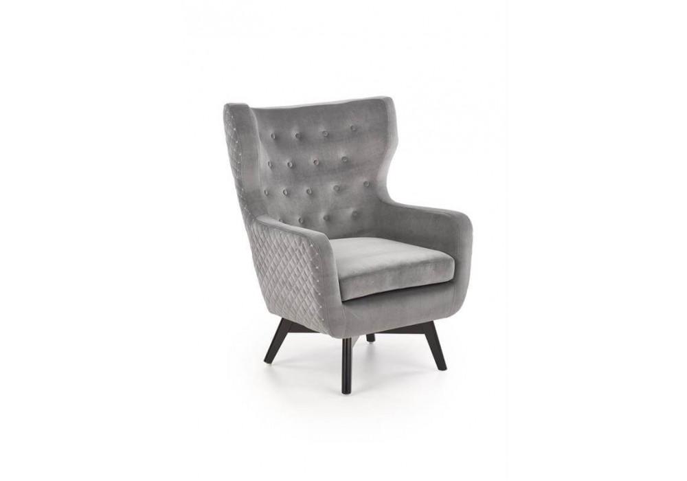 Кресло HALMAR MARVEL серый/черный