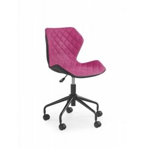 Кресло компьютерное HALMAR MATRIX черно\розовый