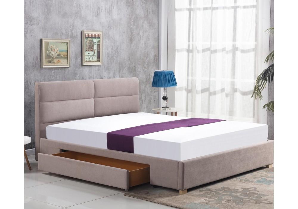 Кровать HALMAR MERIDA бежевый, 160/200
