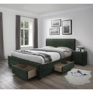 Кровать HALMAR MODENA 3 160 темно-зеленый