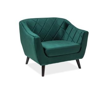 Кресло SIGNAL MOLLY 1 VELVET Bluvel78, зеленый