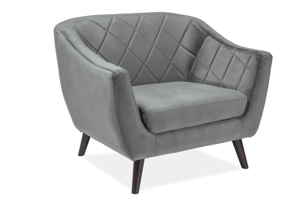 Кресло SIGNAL MOLLY 1 VELVET Bluvel14, серый