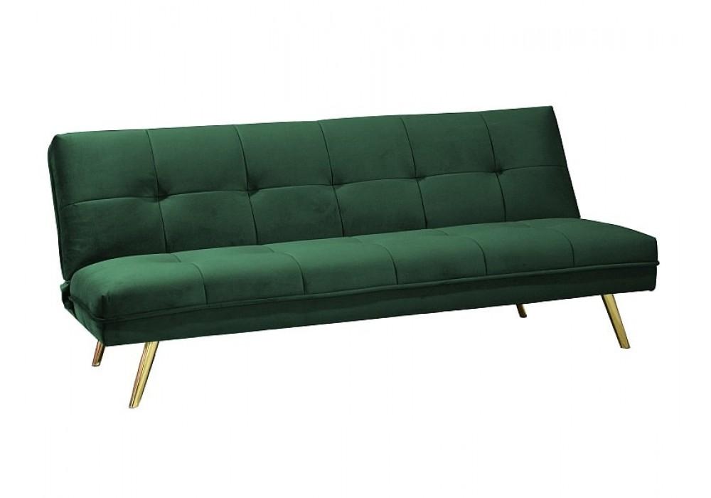 Диван Signal MORITZ Velvet раскладной (зеленый/золотой)