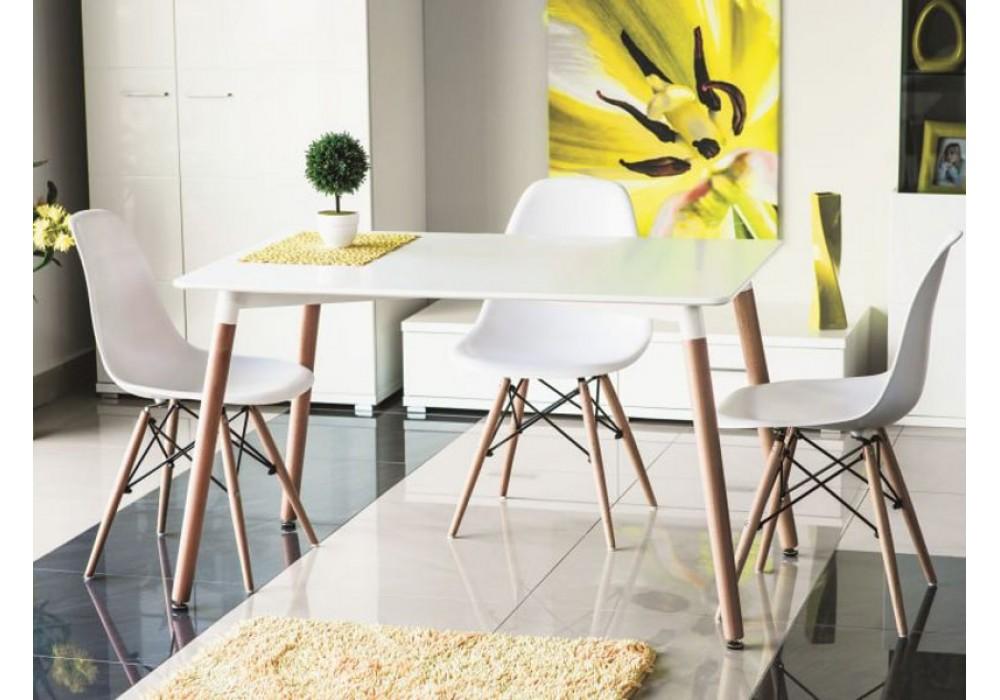 Стол обеденный SIGNAL NOLAN белый 120Х80