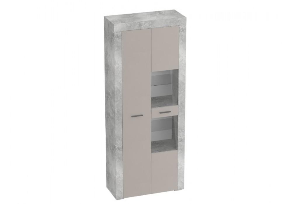 Шкаф двухдверный МС«Осло» (собирается на обе стороны) (Бетон/Капучино)