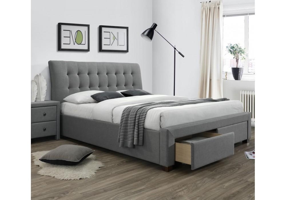 Кровать HALMAR PERCY серый, 160/200