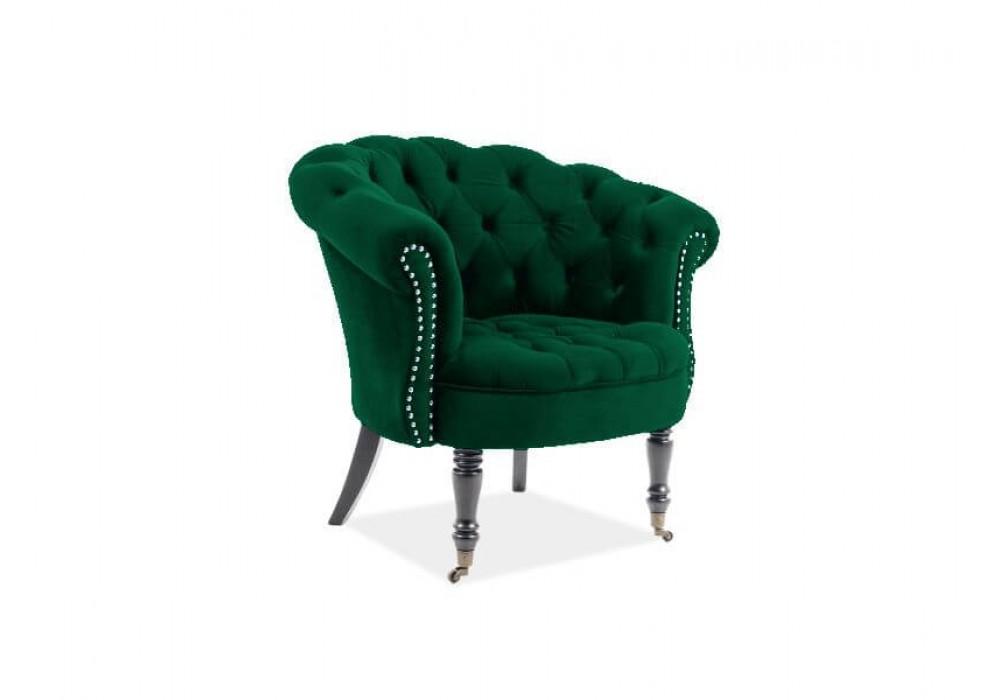 Кресло SIGNAL PHILIPS VELVET BLUVEL 78 зеленый