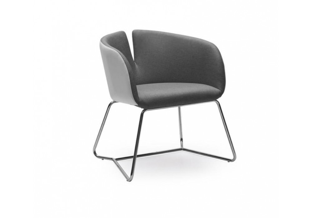 Кресло HALMAR PIVOT бело\серый