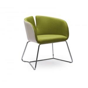 Кресло HALMAR PIVOT бело\зеленый