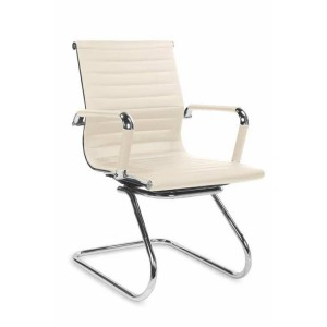 Кресло компьютерное HALMAR PRESTIGE SKID экокожа кремовое
