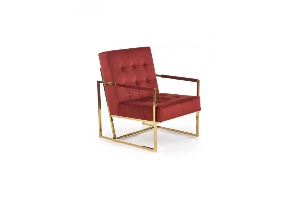 Кресло HALMAR PRIUS бордовый/золотой