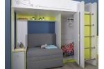 """Кровать-чердак с диванным блоком МС """"Альфа"""" 11.20 Лайм"""