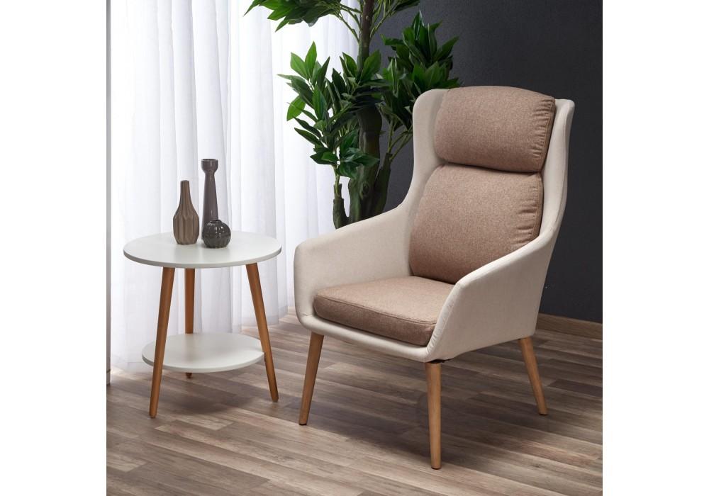 Кресло HALMAR PURIO бежевый/коричневый