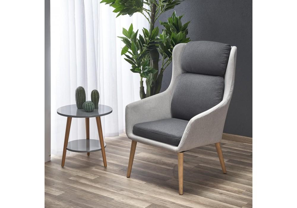 Кресло HALMAR PURIO светло-серый/темно-серый