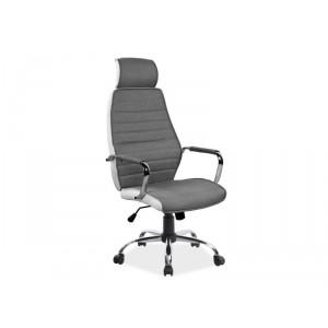 Кресло компьютерное SIGNAL Q-035 белый/серый