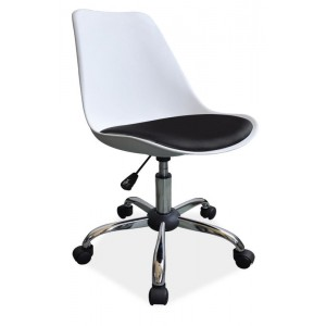 Кресло компьютерное SIGNAL Q-777 бело\черное