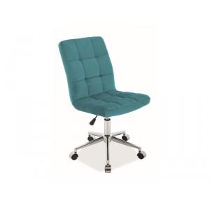 Кресло компьютерное SIGNAL Q-020 VELVET бирюзовый