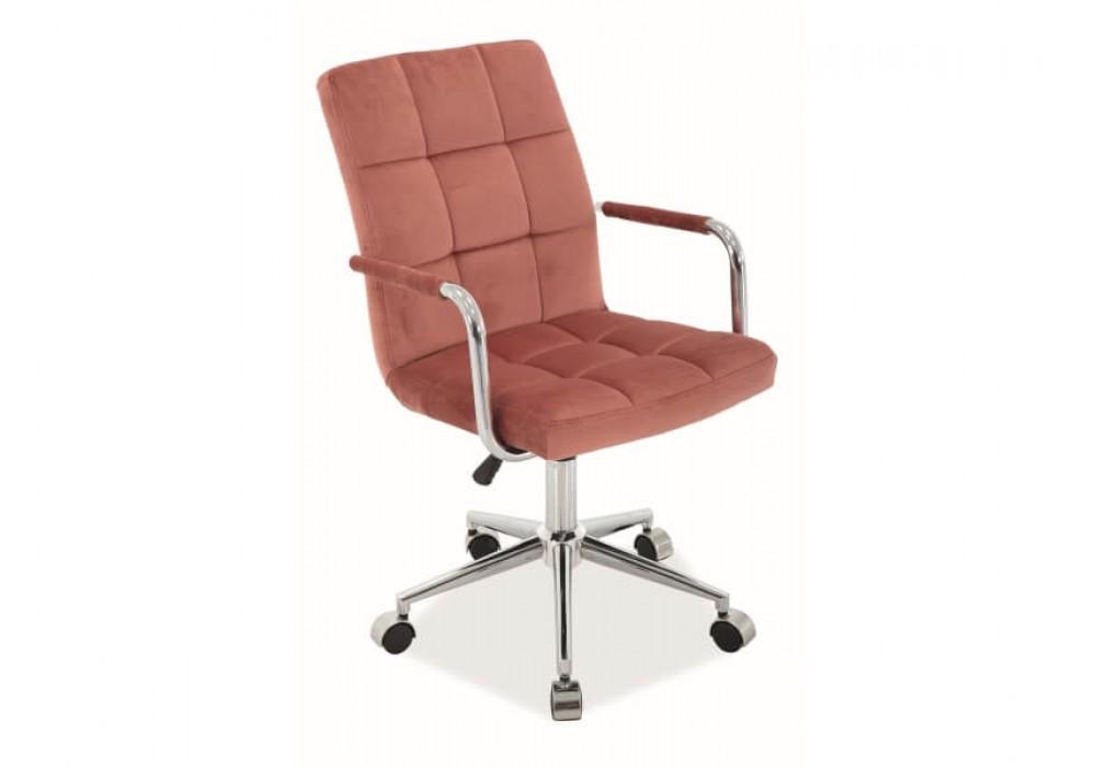 Кресло компьютерное SIGNAL Q-022 VELVET античный розовый