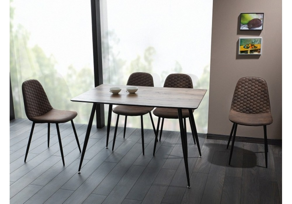 Стол обеденный Signal REMUS 120 орех/черный, 120/80/75