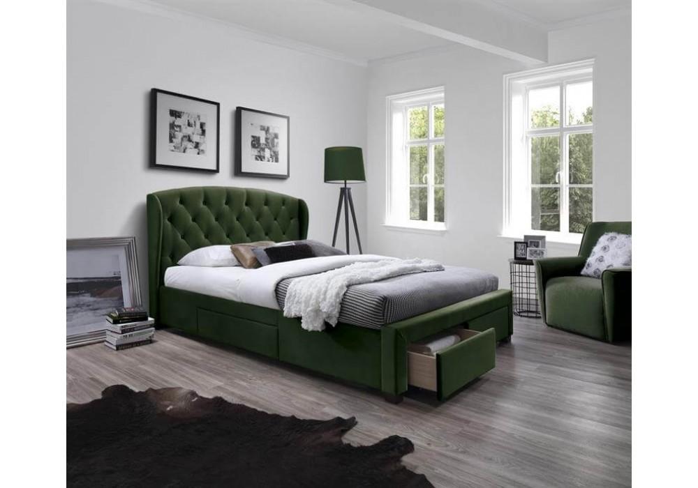Кровать HALMAR SABRINA темно-зеленый, 171/218/111