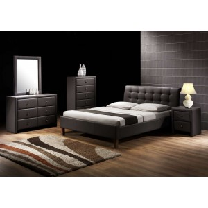 Кровать HALMAR SAMARA черная