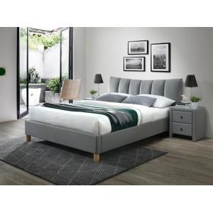 Кровать HALMAR SANDY 2 серый/бук, 160/200 NEW