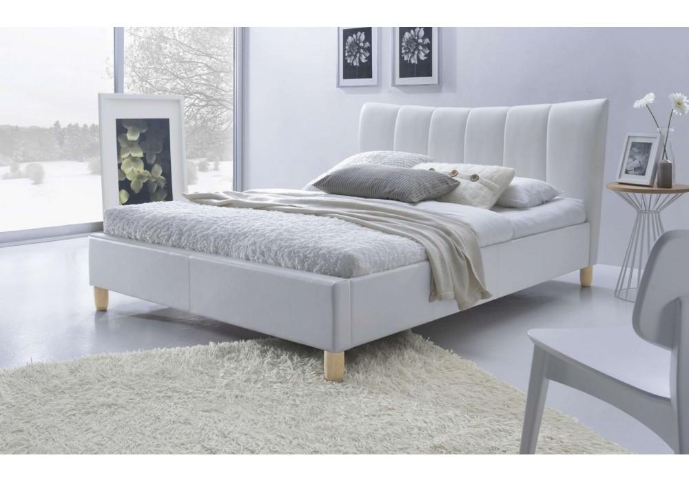 Кровать HALMAR SANDY белая, 160/200