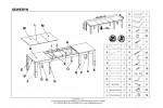 Стол обеденный HALMAR SEWERYN 160/300 раскладной, дуб сонома, 160-300/90/76