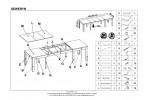 Стол обеденный HALMAR SEWERYN 160/300 раскладной, темный орех, 160-300/90/76
