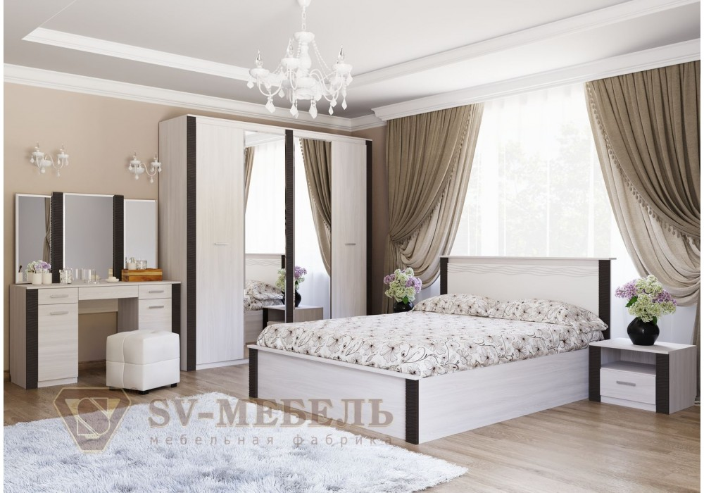 Спальня МС ГАММА 20 SV-МЕБЕЛЬ (Ясень Анкор св./Венге)